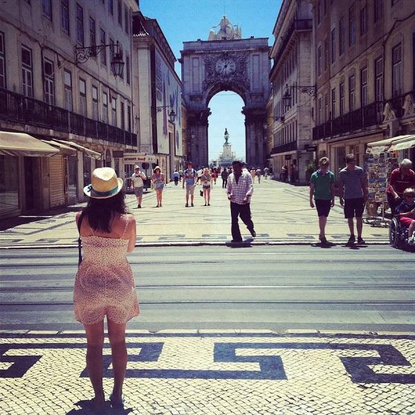 Recorriendo la Rua Augusta durante el Optimus Alive en Lisboa