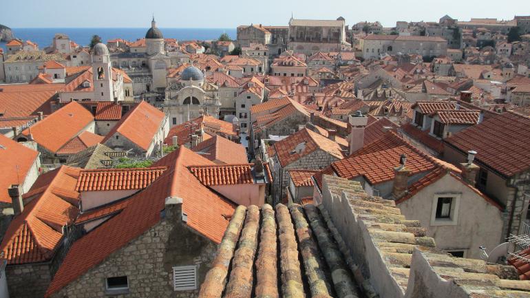 Vista de Dubrovnik desde la muralla