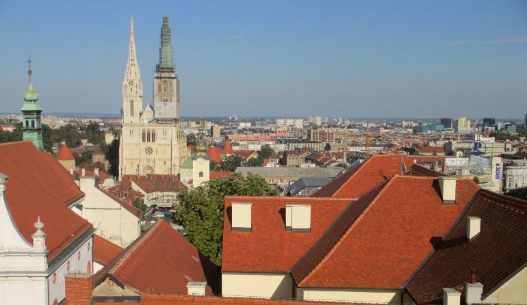 catedral desde la torre Lotrscak