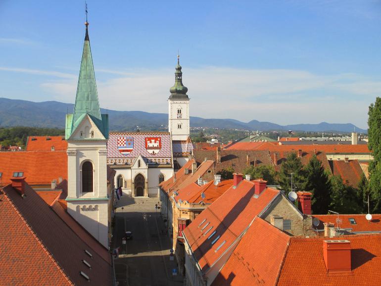 iglesia de san marcos desde la torre lotrscak