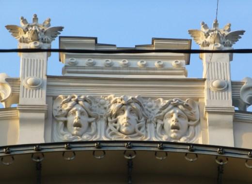 detalle del art nouveau de riga