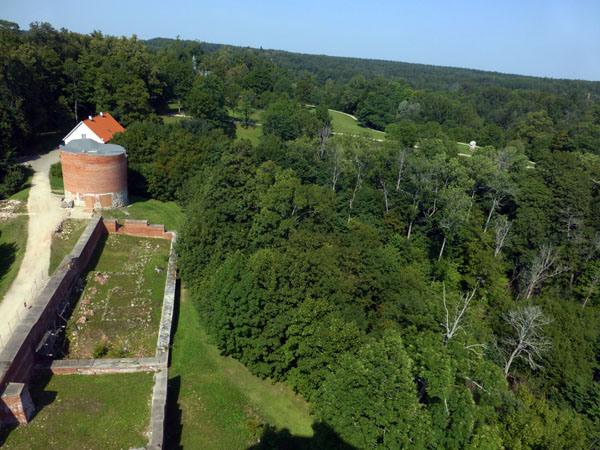 Panoramica del Parque Nacional de Gauja desde el Castillo de Turaida