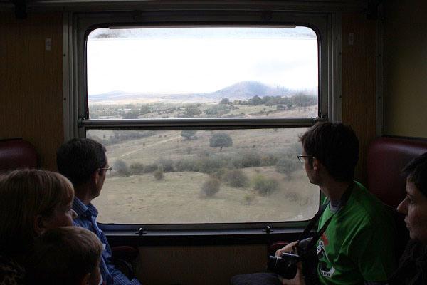 La Sierra de Guadarrama desde el Tren Río Eresma