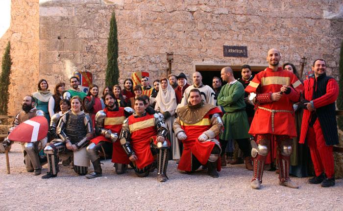 liga española de combate medieval en el castillo de belmonte