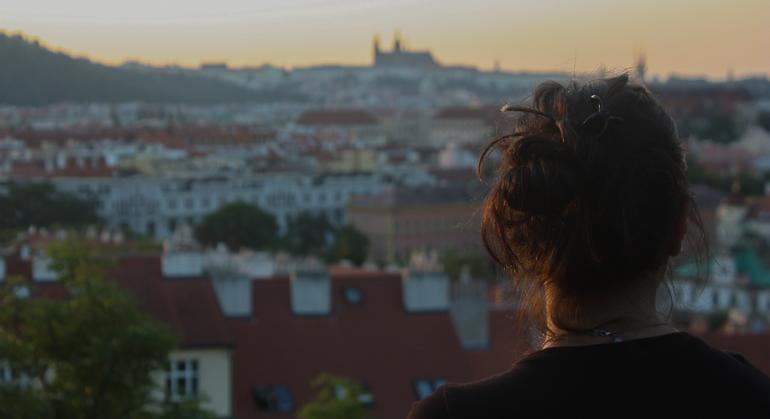 Vistas de Praga desde la ciudadela de Visehrad