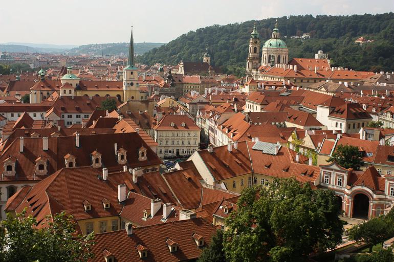 vistas de Praga desde la torre del castillo