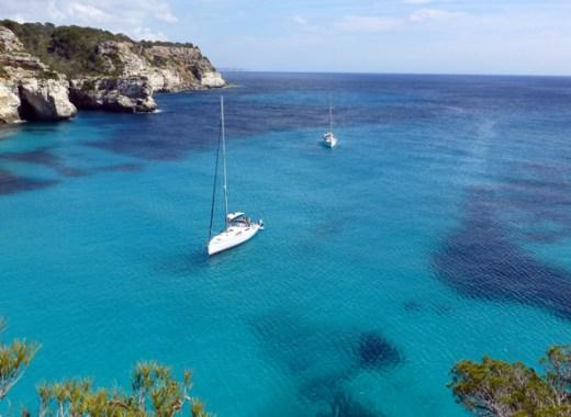 Vistas del mar Mediterráneo desde el acantantilado