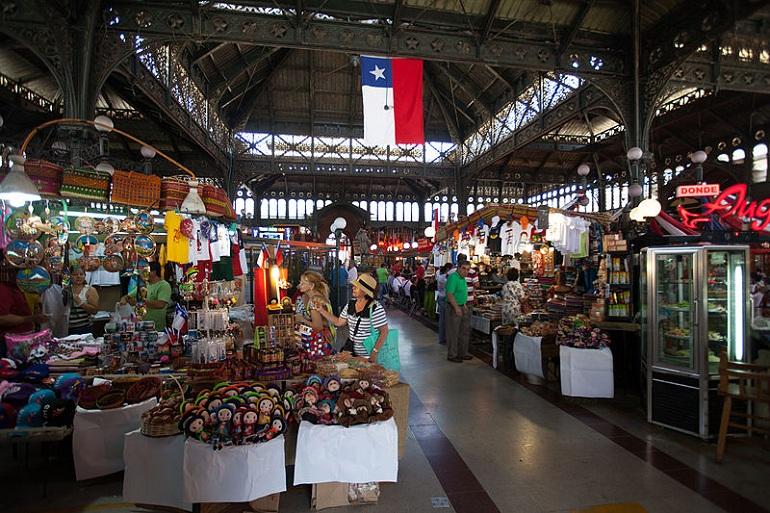 mercado central viajar a santiago de chile