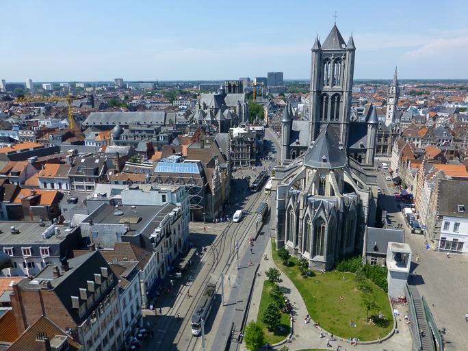 Vista de Gante desde la torre Belfort