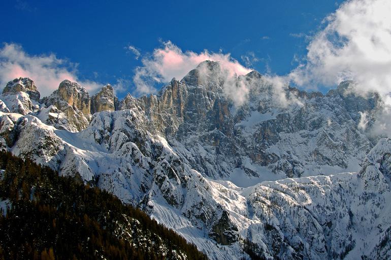 Panorámica de los Alpes italianos