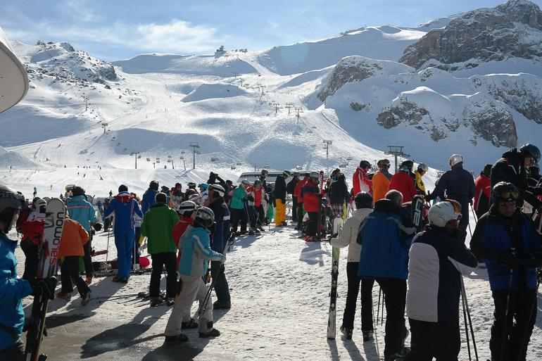 Esquiadores en la estación de Ischgl