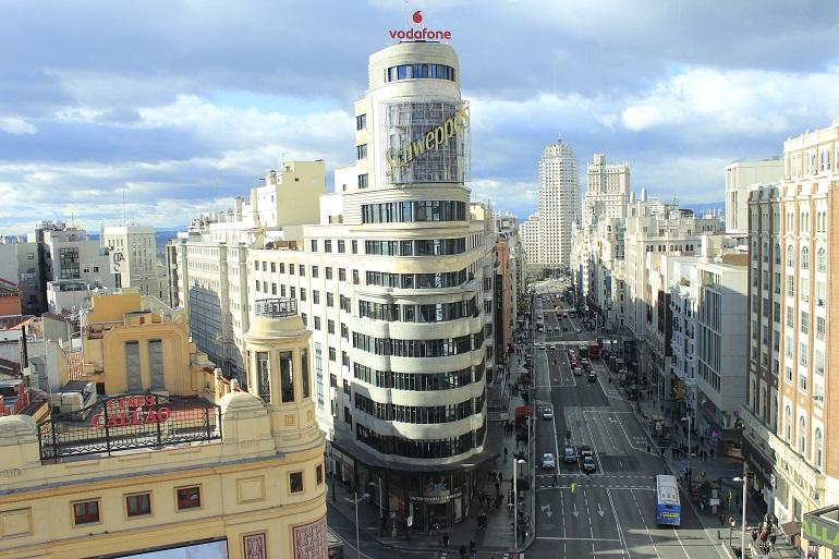 Gran Vía fin de semana en Madrid