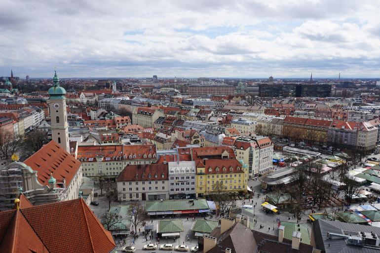 vista del viktualienmarkt