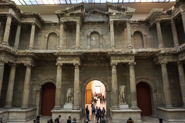 Puerta del mercado de Mileto en el museo de Pérgamo