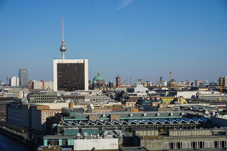 Vistas de Berlín y de la Torre de la TV