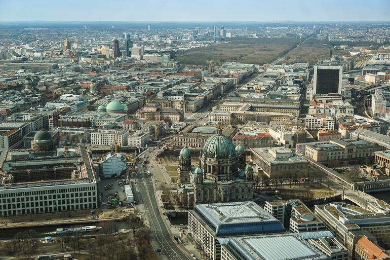Vistas de Berlín desde la Torre de la TV
