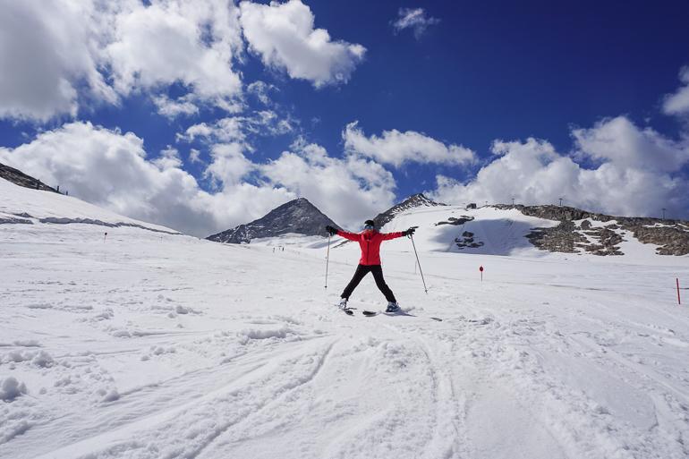 Esquiando en Hintertux en verano