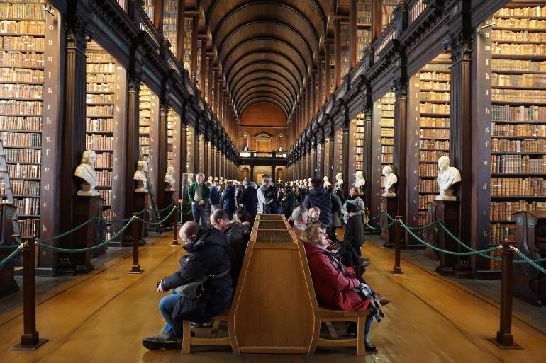 Long room de la biblioteca del trinity college