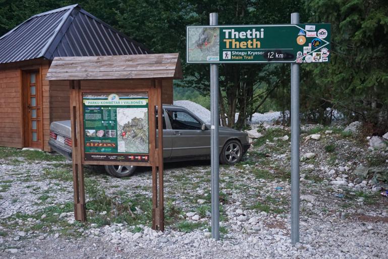 Inicio de la ruta hacia Theth
