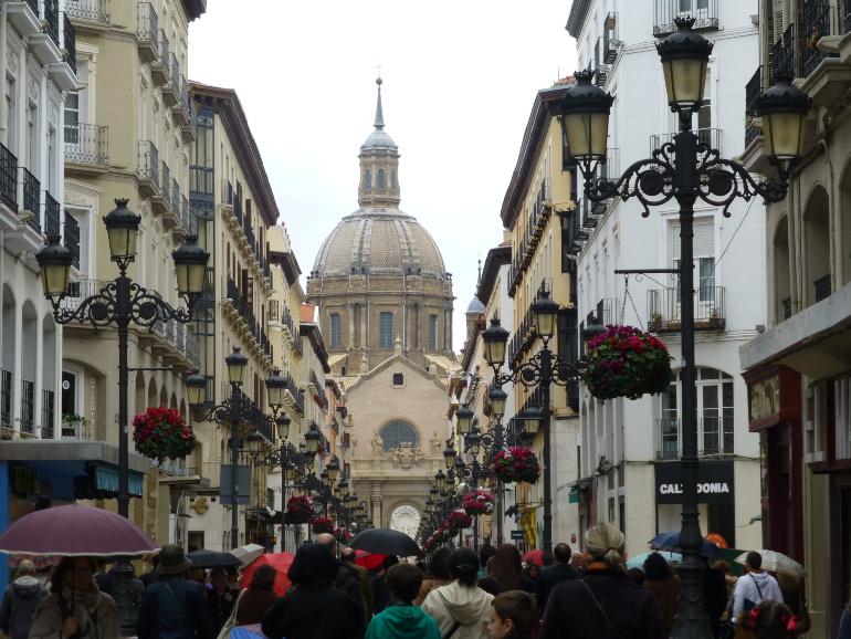 vista de la cupula de la basílica desde la calle alfonso