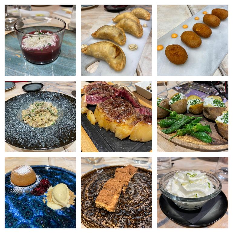 selección de platos en Kütral