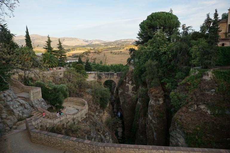 Vistas desde los jardines de Cuenca