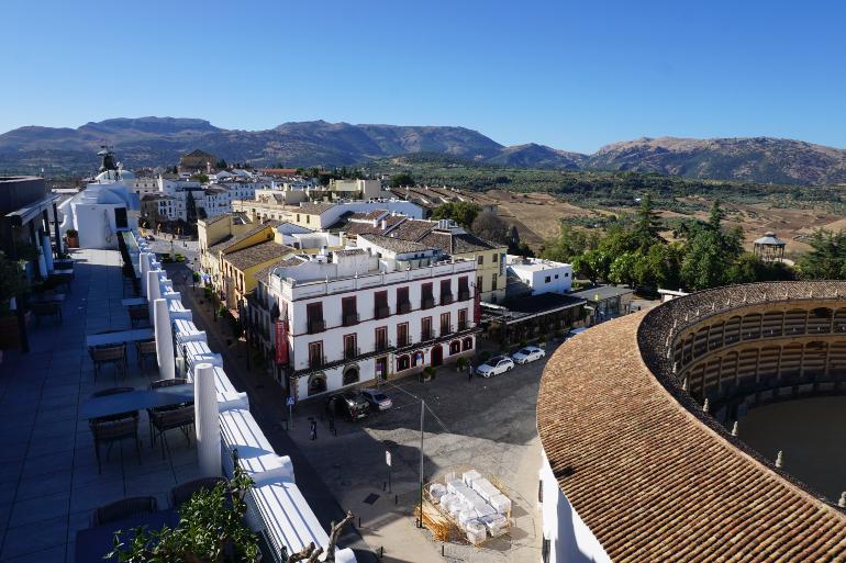 Vista de Ronda desde la terraza del Hotel Catalonia