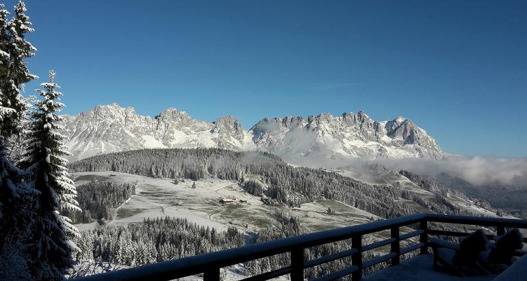 Vistas de Kitzbühel en Austria