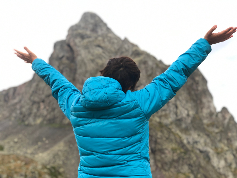 Frente al pico Anayet