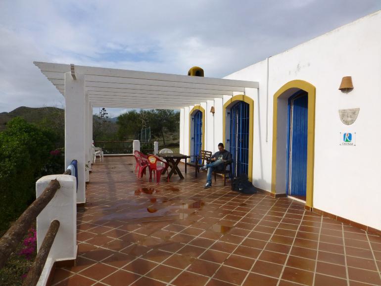 Terraza de la casa rural La Noria