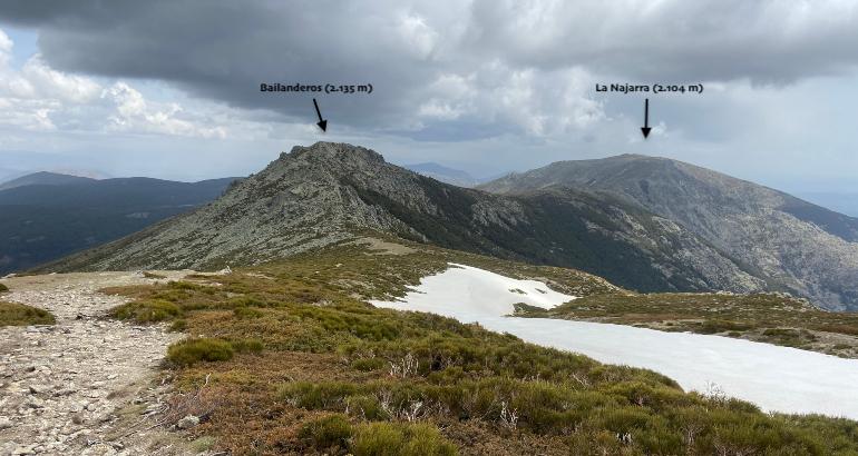 vistas de Bailanderos y la najarra