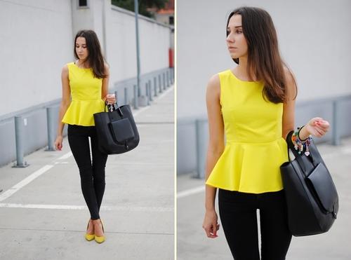blusa estilo peplum