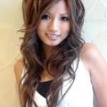peinado asiatico ondulado