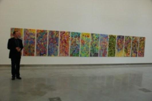 Golgotha - 30ftx5ft single piece of canvas 2007_8 RUA RED Opening by Cormac De Barra