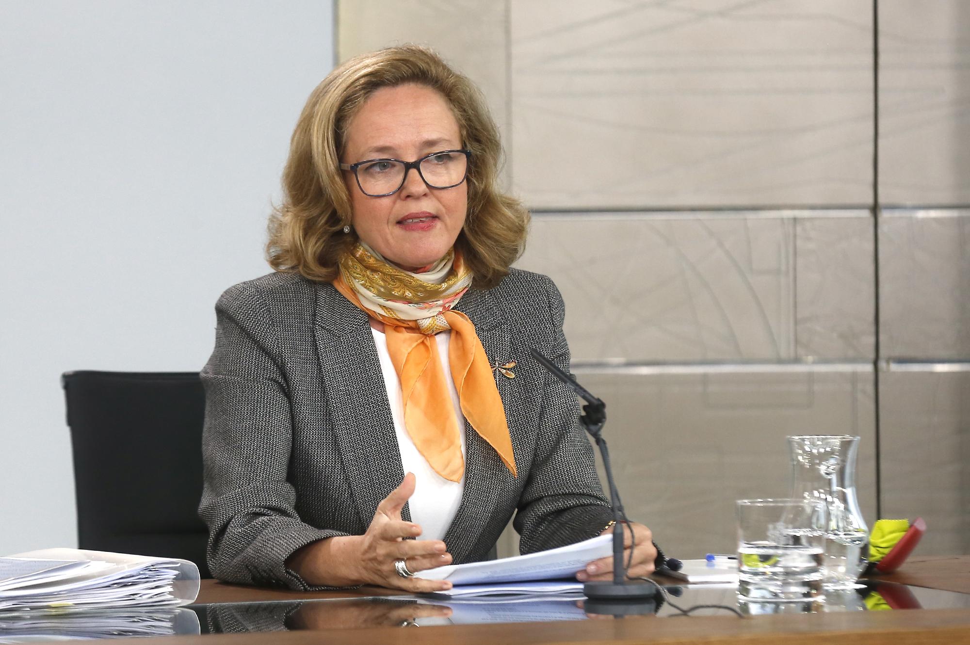 La ministra de Economía y Empresa, Nadie Calviño