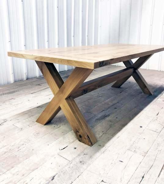 Lamon Luther Custom Wood Tables Atlanta - Samuel Wooden Base Table