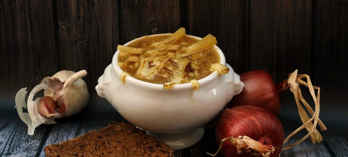 Zuppa di cipolla di Aalst Onion soup Aalst style