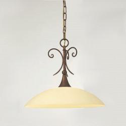Chandelier lampade da interno : Piatto Curvo In Stile Classico In Vetro Satinato E27 Led Da Interni