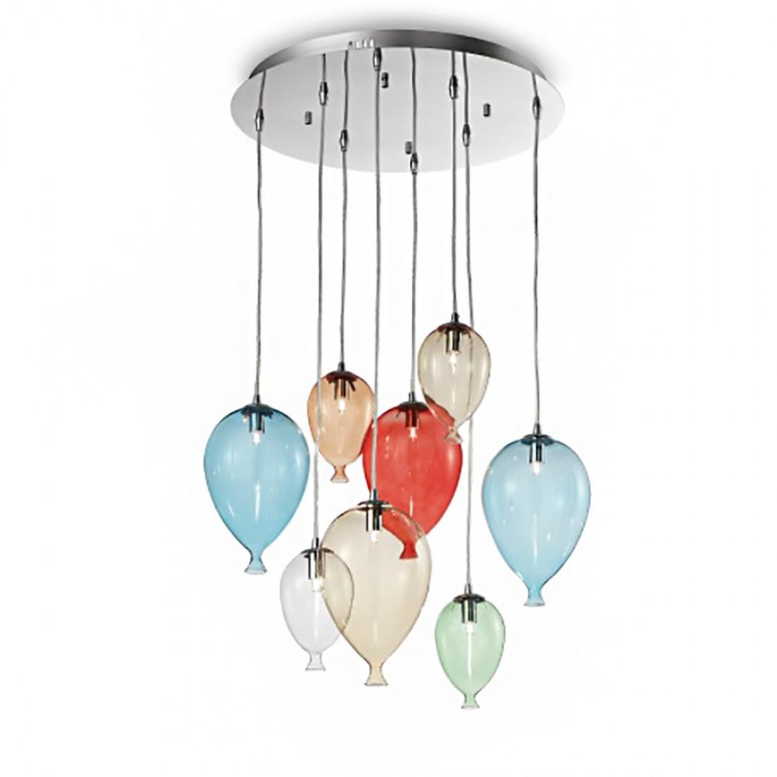Lampadari tiffany in vetro colorato ⭐ 560 000 pz di lampade in magazzino. Lampadario Con Gocce Di Vetro Soffiato Colorato 5 Luci Attacco G9