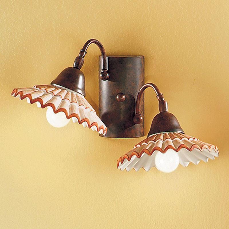 Applique in Ferro Battuto  Lampade da parete in ferro