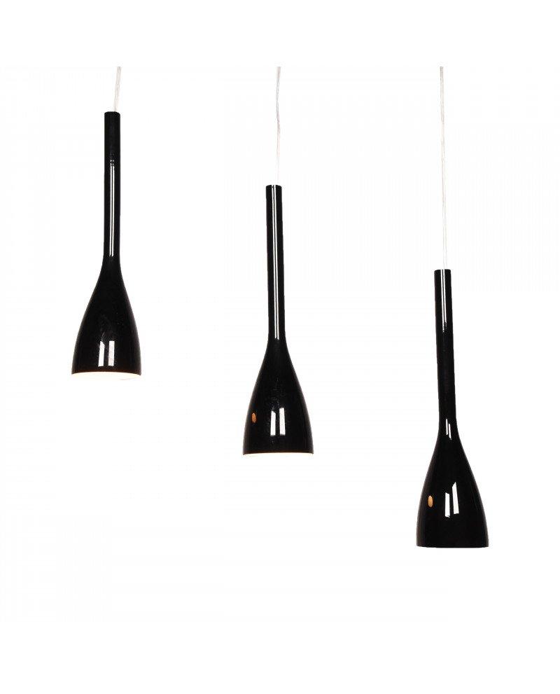 lampada a sospensione moderno 3 luci nero