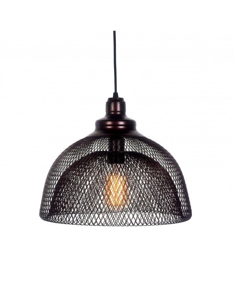 lampadario da soffitto in rete metallica bronzo