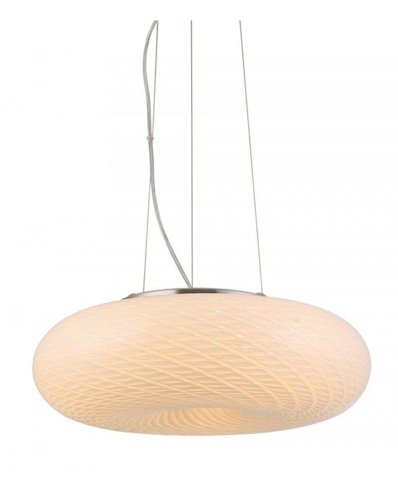 lampada sospensione vetro satinato 3 luci Eviante D38