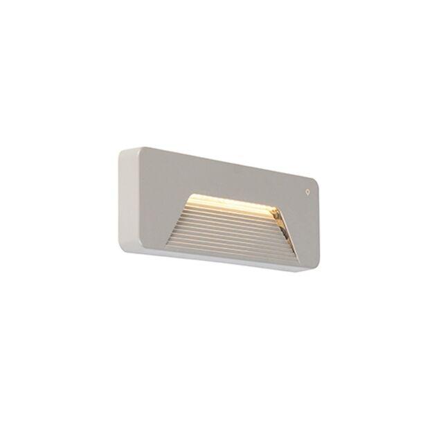 modern outdoor wall light rectangle incl led pod