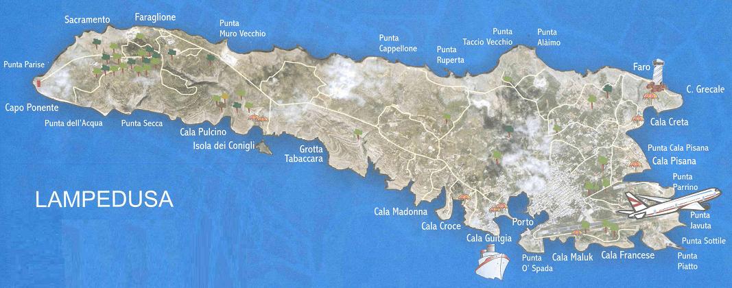 Cartina Delle Spiagge Di Lampedusa.Lutfianaxiipas3 24 Spiaggia Dei Conigli Map