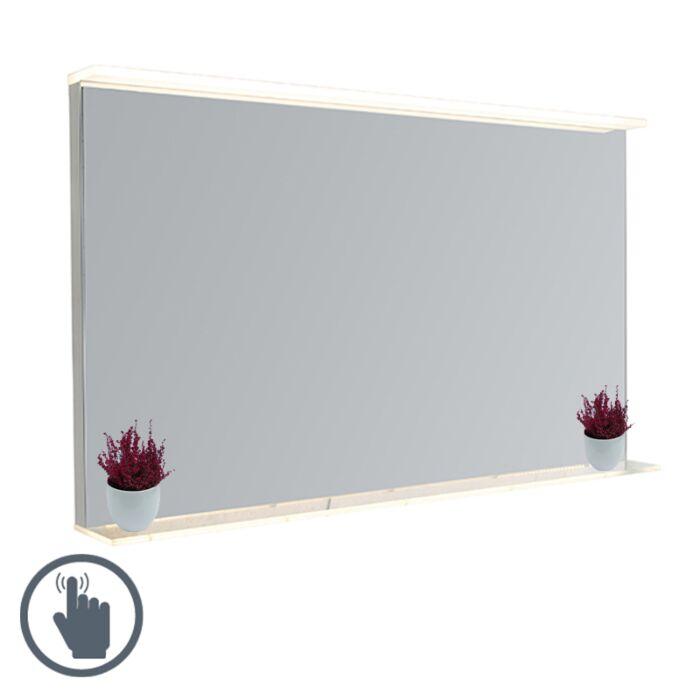 miroir de salle de bain moderne 60x100 cm avec led avec variateur tactile et etagere miral