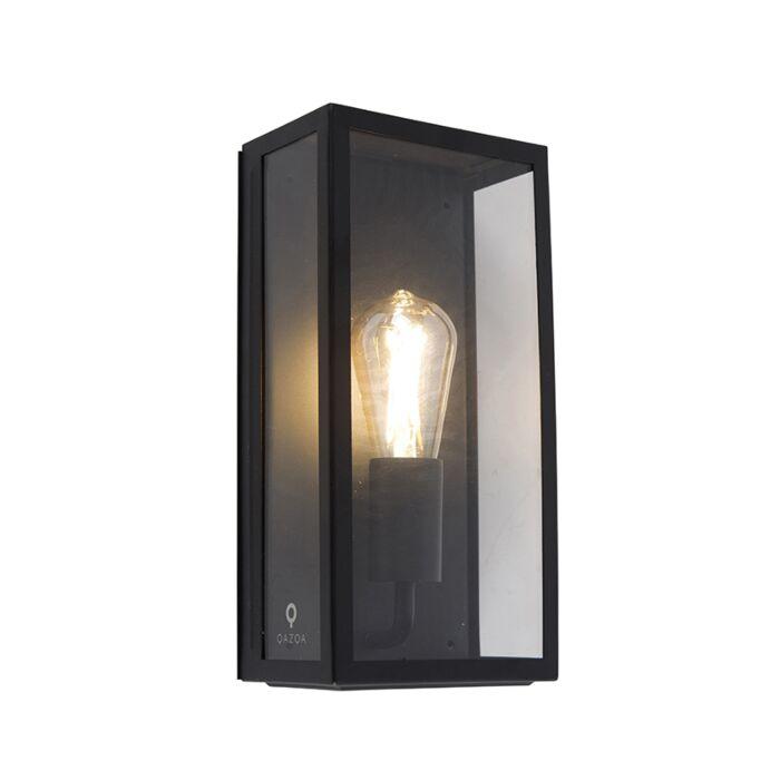 applique d exterieur industrielle rectangulaire noire avec verre ip44 rotterdam
