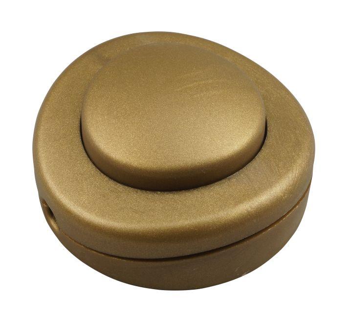 interrupteur a pied vieil or 65mm pour lampe et lampadaire