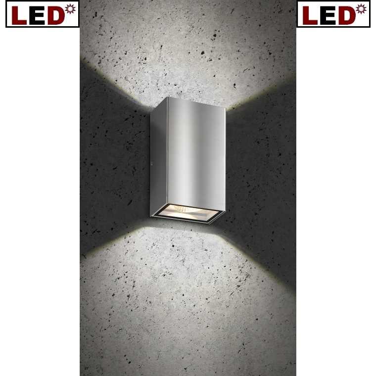 """LED Außenwandleuchte Up & Down """"5010"""" Edelstahl LCD Leuchten"""