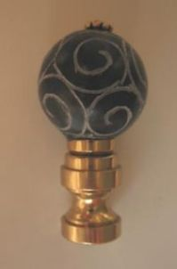 Jade | Lamp Finials to fit any decorating style.